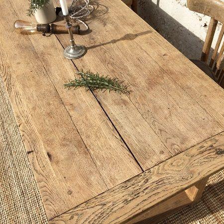 table de ferme ancienne bois brut