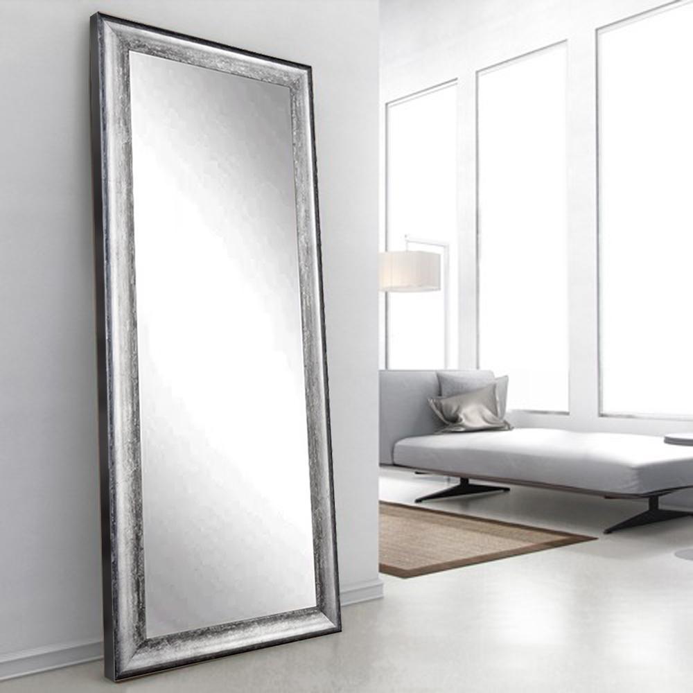Brandtworks midnight silver decorative floor mirror