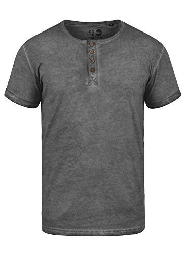 !Solid Calvin Camiseta Básica De Manga Corta T-Shirt para Hombre con Cuello Redondo Ya5AohV