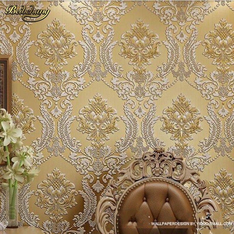 Luxury velvet wallpaper from aliexpress.com