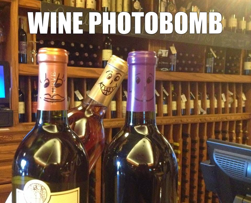 Wine photobomb {wineglasswriter.com/}