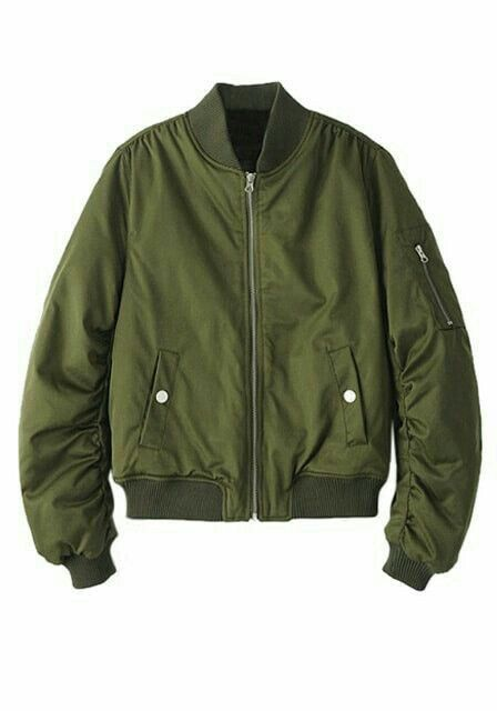 Jaqueta Bomber Verde Militar Chaquetas Ropa Impermeable Chaquetas Mujer