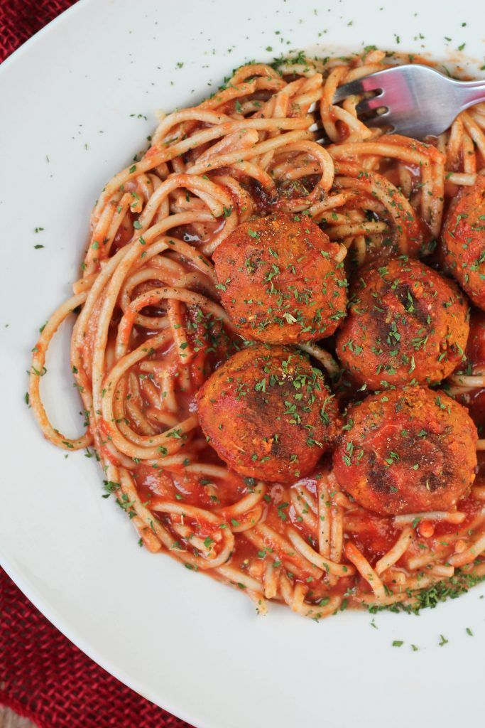 Classic Spaghetti and Meatballs gets a vegan makeover with these amazing Italian dried herb infused veggie balls. Made with chickpeas and couscous for amazing texture. These are loaded with flavor and spice and will leave you feeling wonderfully satisfied. The day has arrived. You now have this amazing 'meatball' recipe that I shared a teaser photo of on both IG