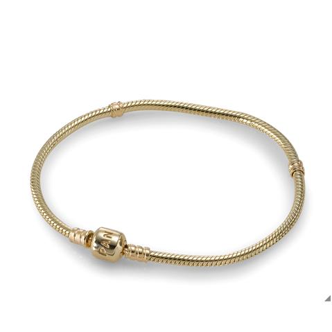 Moments Gold Clasp Bracelet | Pandora bracelets, Pandora gold ...