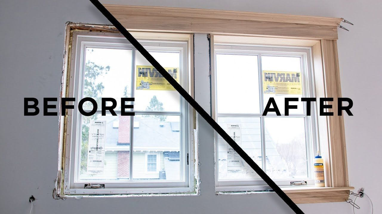 How To Install Window Casing And Interior Trim Youtube In 2020 Window Casing Interior Trim Window Molding