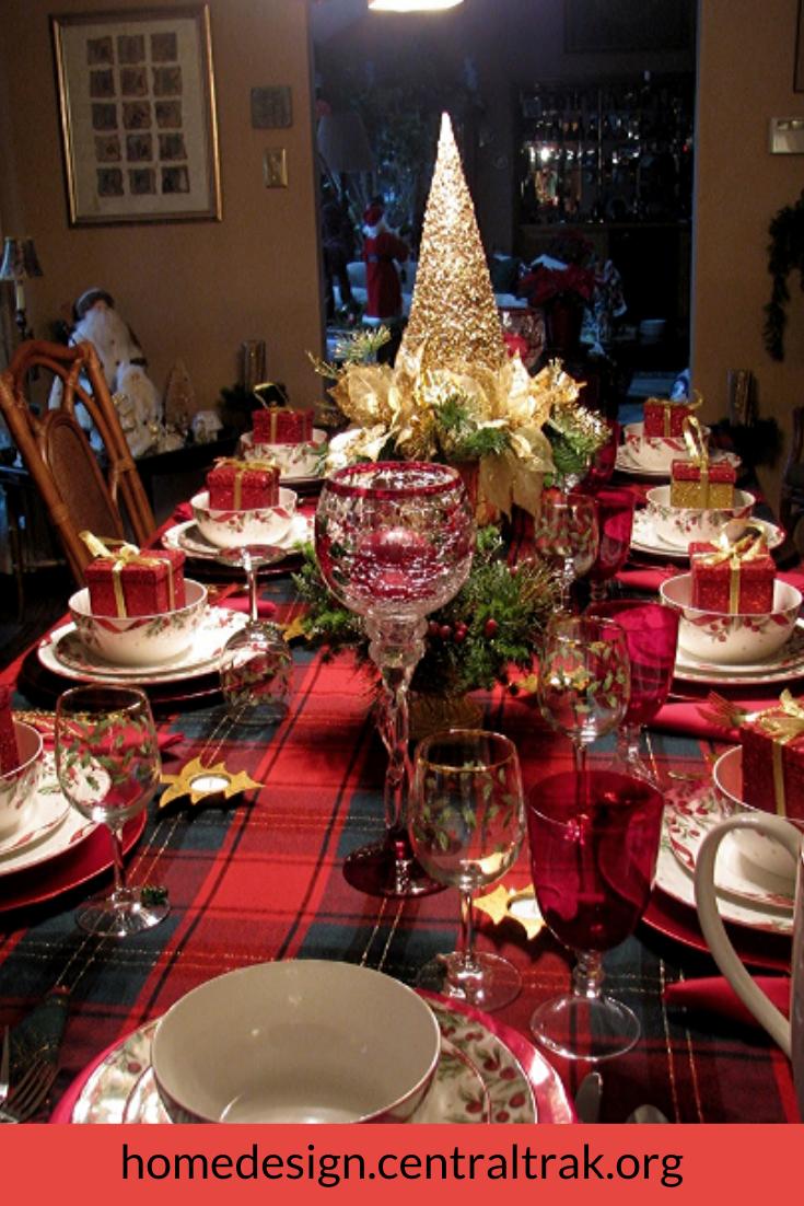 20 Hottest Christmas Table Decorating Ideas For You Coodecor Desain Rumah Nyaman Referensi Desain
