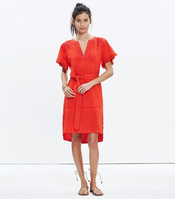 Madewell Embroidered Paradise Dress