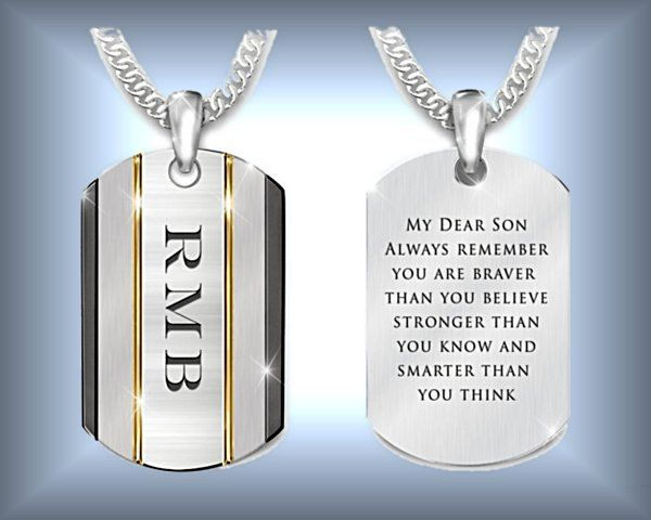 4c58a40f403a The Strength Of My Son Personalized Stainless Steel Dog Tag Necklace ...
