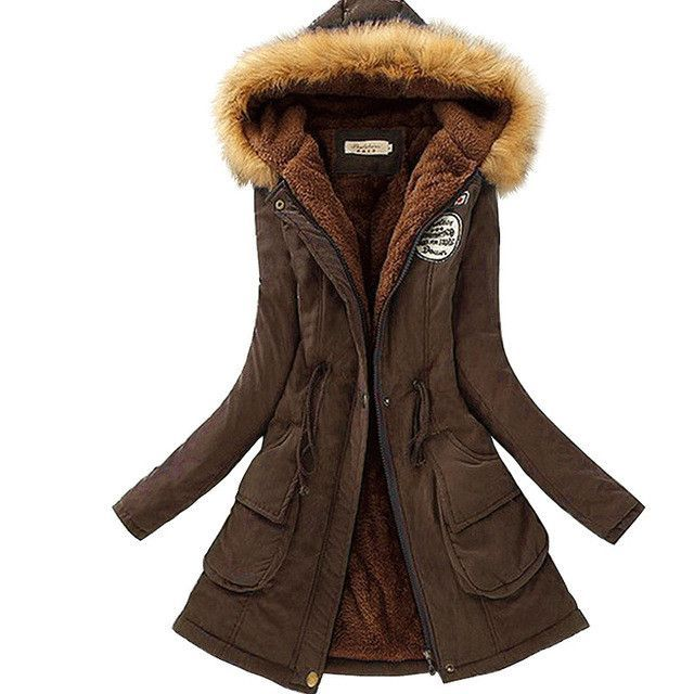 0bf0e60337 Winter Jacket Women Faux Fur Collar Womens Coats Long Down Parka Plus Size  Lady Hoodies Parkas Warmer Classical Jackets Hot Sale