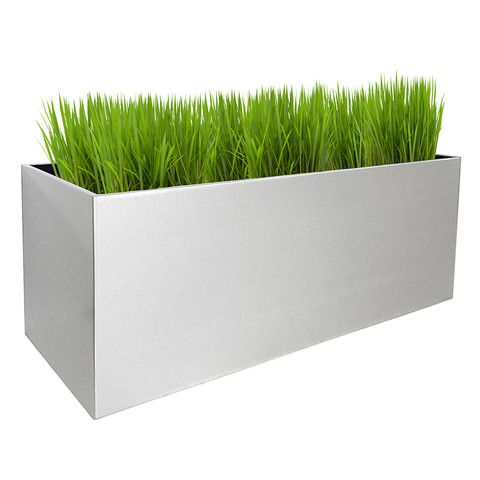 Modern Aluminum Rectangular Indoor Outdoor Planter Rectangle