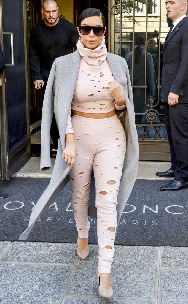 Kim Kardashian's Latest Fashion Week Outfit Looks Like It Was a Mistake—See for Yourself  Kim Kardashian
