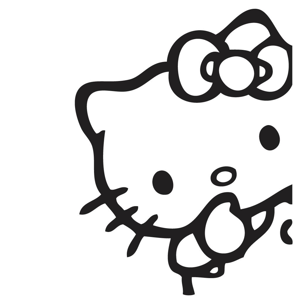 adhesivo de vinilo hello kitty con gesto de silencio