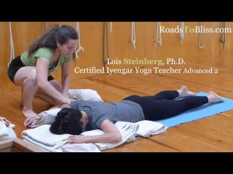 prone savasana with lois steinberg certified iyengar yoga