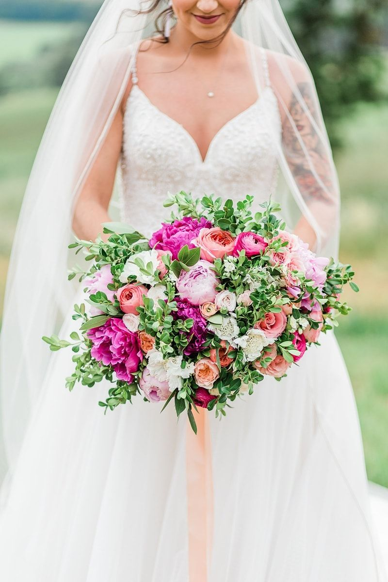 A Showstopping Wedding Inspired By Vibrant Peonies And Rolling