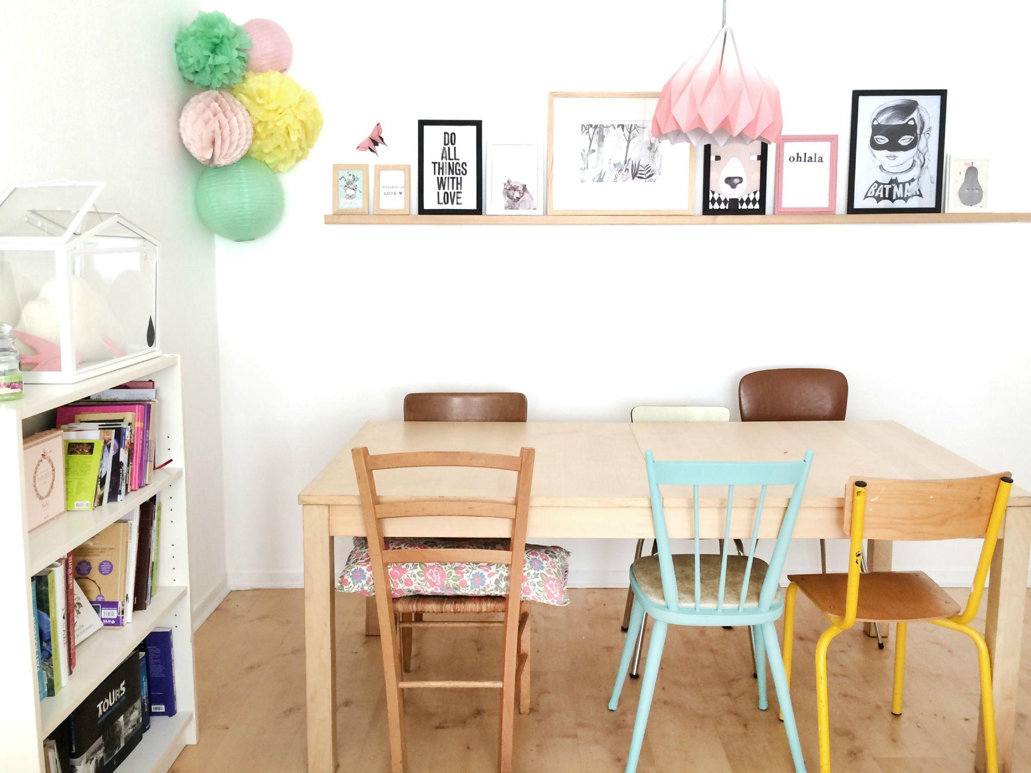 Petite Salle A Manger Avec Chaises Depareillees Inspiration