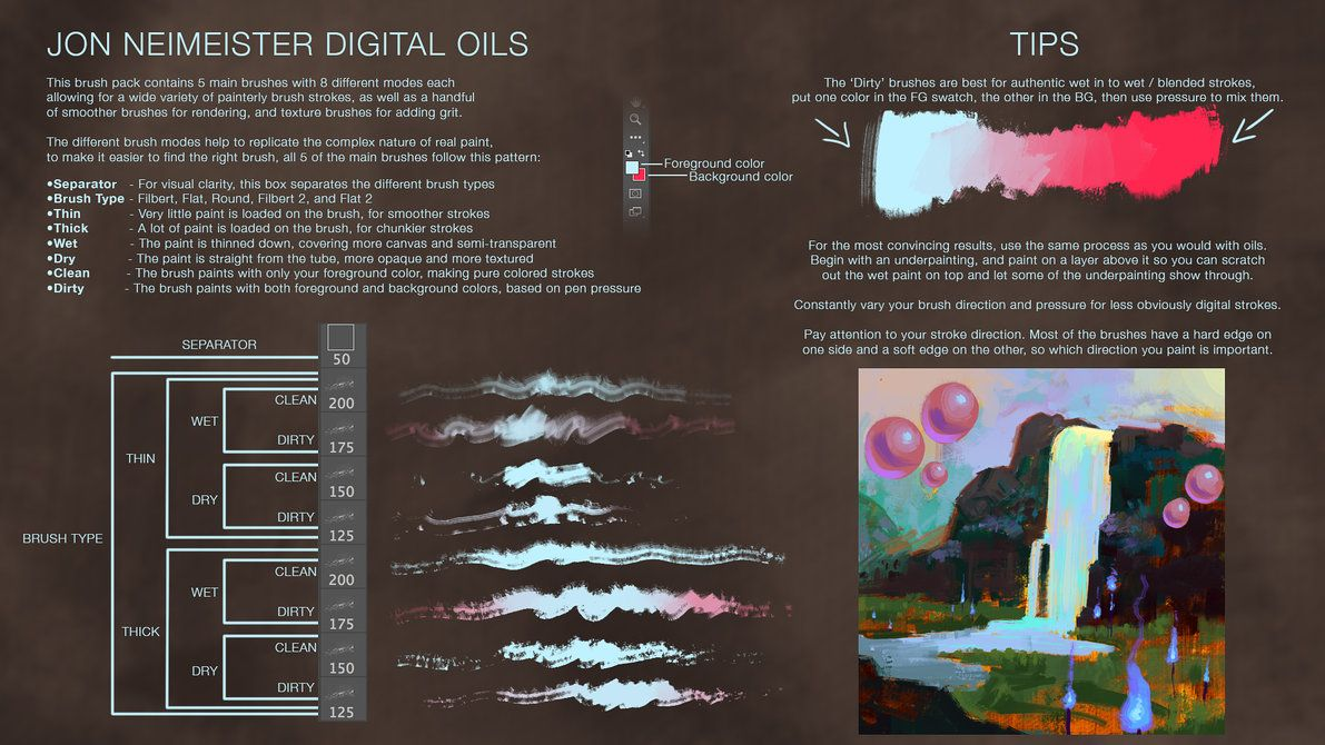 Digital Oil Brushes Free Download By Andantonius Deviantart Com