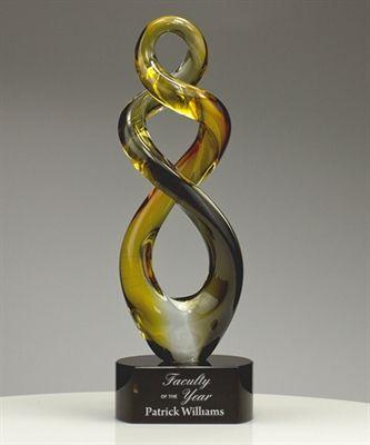 Teamwork Art Glass Award Glass Awards Glass Art Glass Trophies