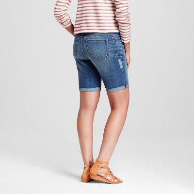 Maternity Over The Belly Bermuda Shorts Navy Xxl - Liz Lange for Target, Women's, Blue