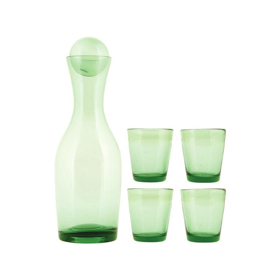 5 piece giftbox decanter and glass set house doctor