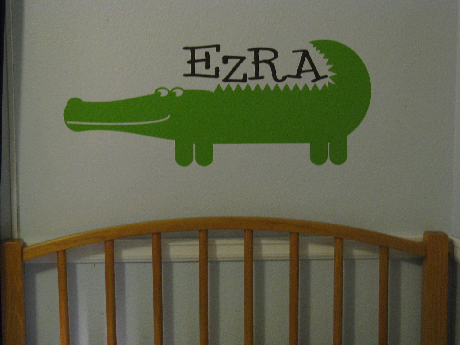 Alligator Wall Decal Personalized Baby Nursery Custom Name Jungle Vinyl Wall Decal Alligator Wall Decor Vinyl Wall Lettering C 123 With Images Vinyl Wall Lettering Wall Vinyl Decor Wall Decals