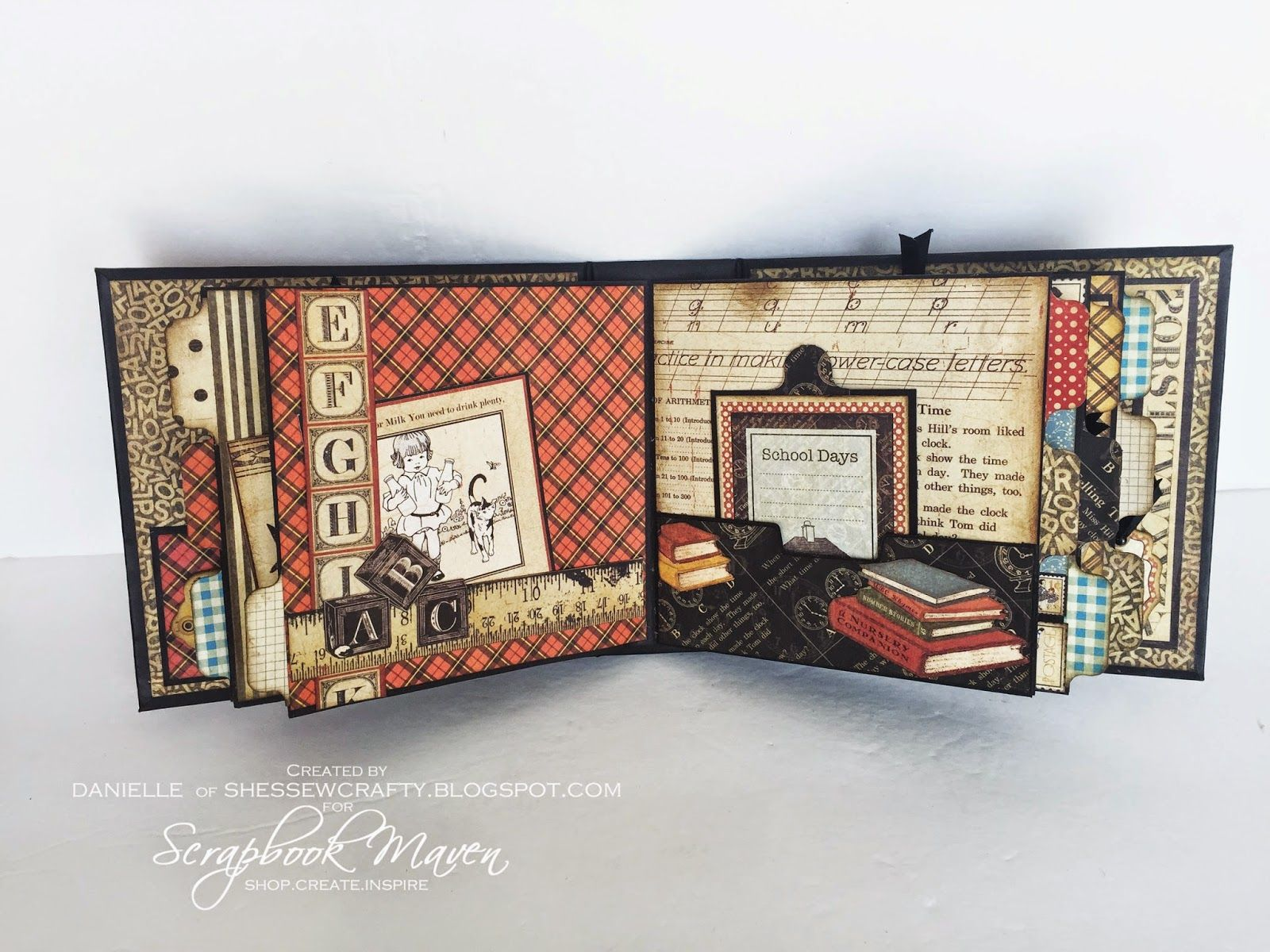 Graphic 45 An ABC Primer Mini Album by https://www.youtube.com/user/scrapbookmaven1/videos