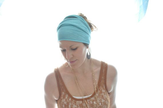Headwrap Ocean hemp and organic cotton by obellaorganics on Etsy. $20.00, via Etsy.