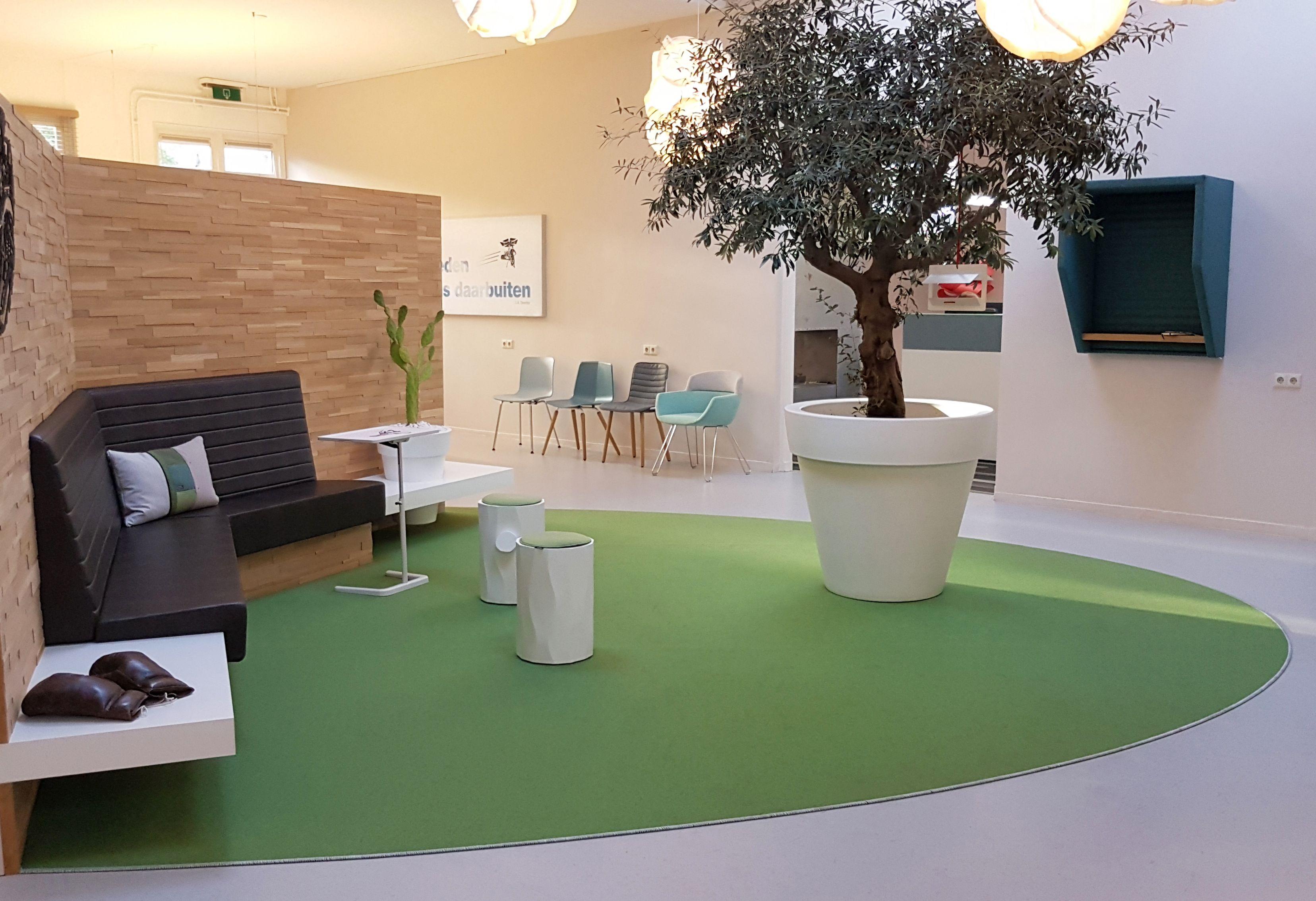 Donkersloot | Green felt oval carpet for the Sprank showroom ...