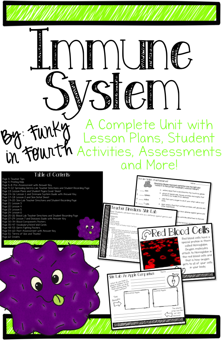 Immune System | Anatomy | Biology lessons, 4th grade science, Health