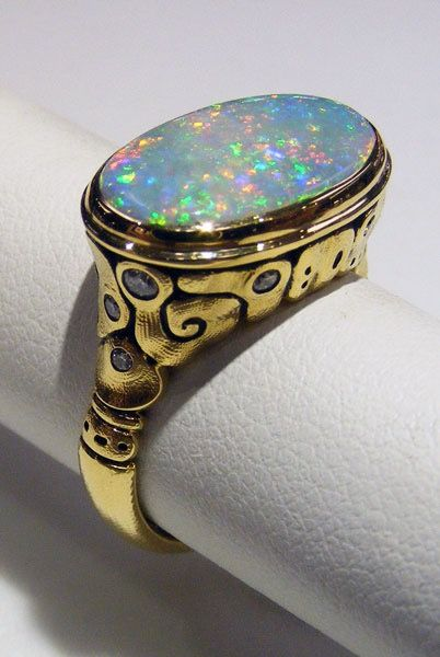 18K White Gold Filled Opal Rings  Wedding Engagement Wedding Jewelry Size8