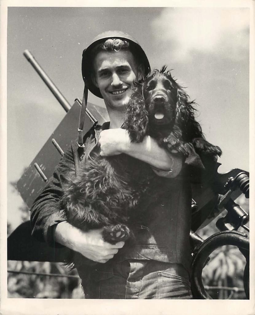 1944 Saki Cocker Spaniel Mascot Of A Coast Guard Manned Lst