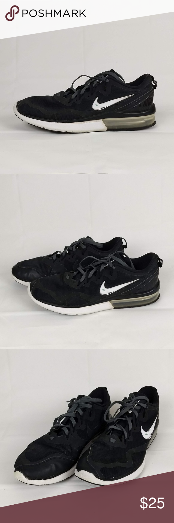 low priced 0d271 42ffc Nike Air Max Fury Black Men s Running Shoes 12 Nike Air Max Fury Black  Men s Running Shoes Model  AA5739-001 US Mens Size 12 UK 11 EUR 46  Condition  ...