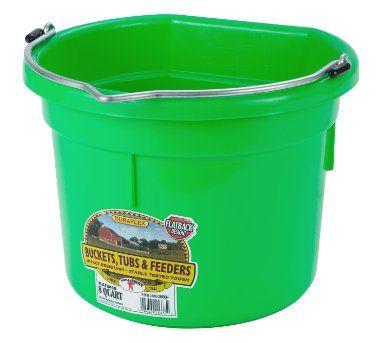 4 26 Amazon Com Little Giant Flat Back Dura Flex Plastic Bucket 8 Quart Yellow Home Kitchen Plastic Buckets Little Giants Bucket