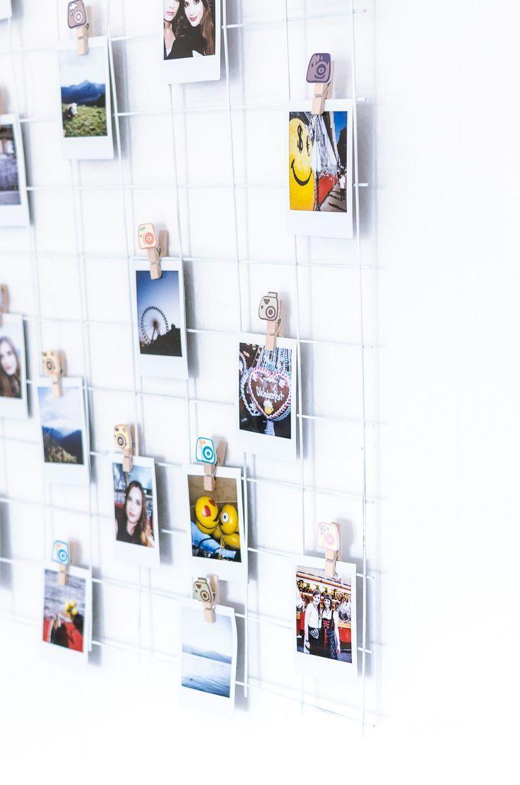 Diy Grid Wall Für Fotos Gitterwand Polaroid Wand Und