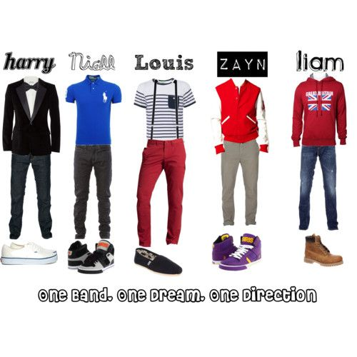 You know you're a true directioner when you can tell who's who by their outfits