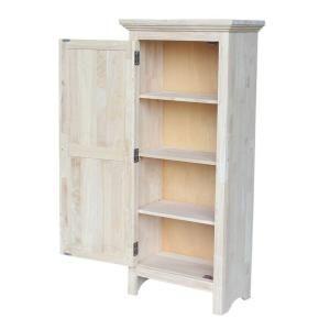International Concepts Unfinished Storage Cabinet Cu 120 The Home Depot Jelly Cabinet Storage Cabinet Shelves Cabinet
