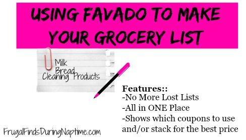 grocery list maker with prices
