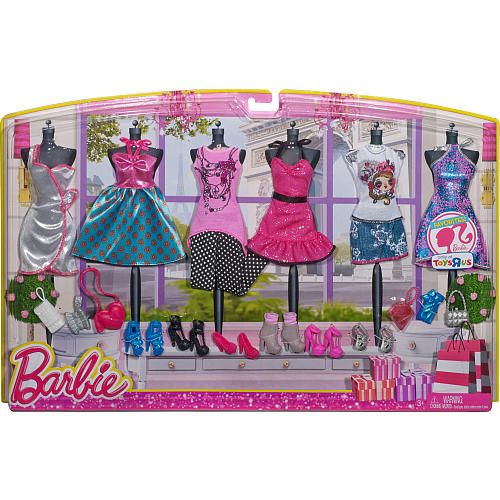Toys R Us Exclusive Barbie Fashions 6 Pack Of Outfits Barbie Fashion Barbie Doll Clothes Barbie