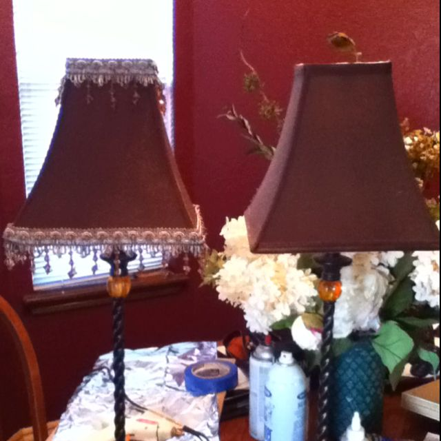 Hobby Lobby Lamp Shades Beauteous Diy Lamp Shades Hot Glue And Hobby Lobby Ribbon  Books Worth Design Ideas