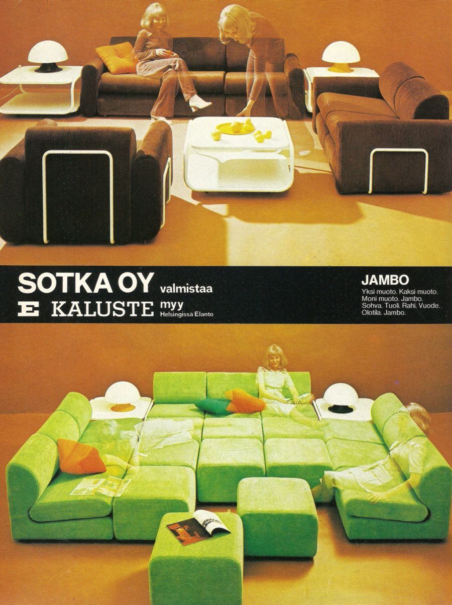 Finnish Retro Living Room Furniture Sets: Jambo By Sotka   70 Luvulta,  Päivää Part 53