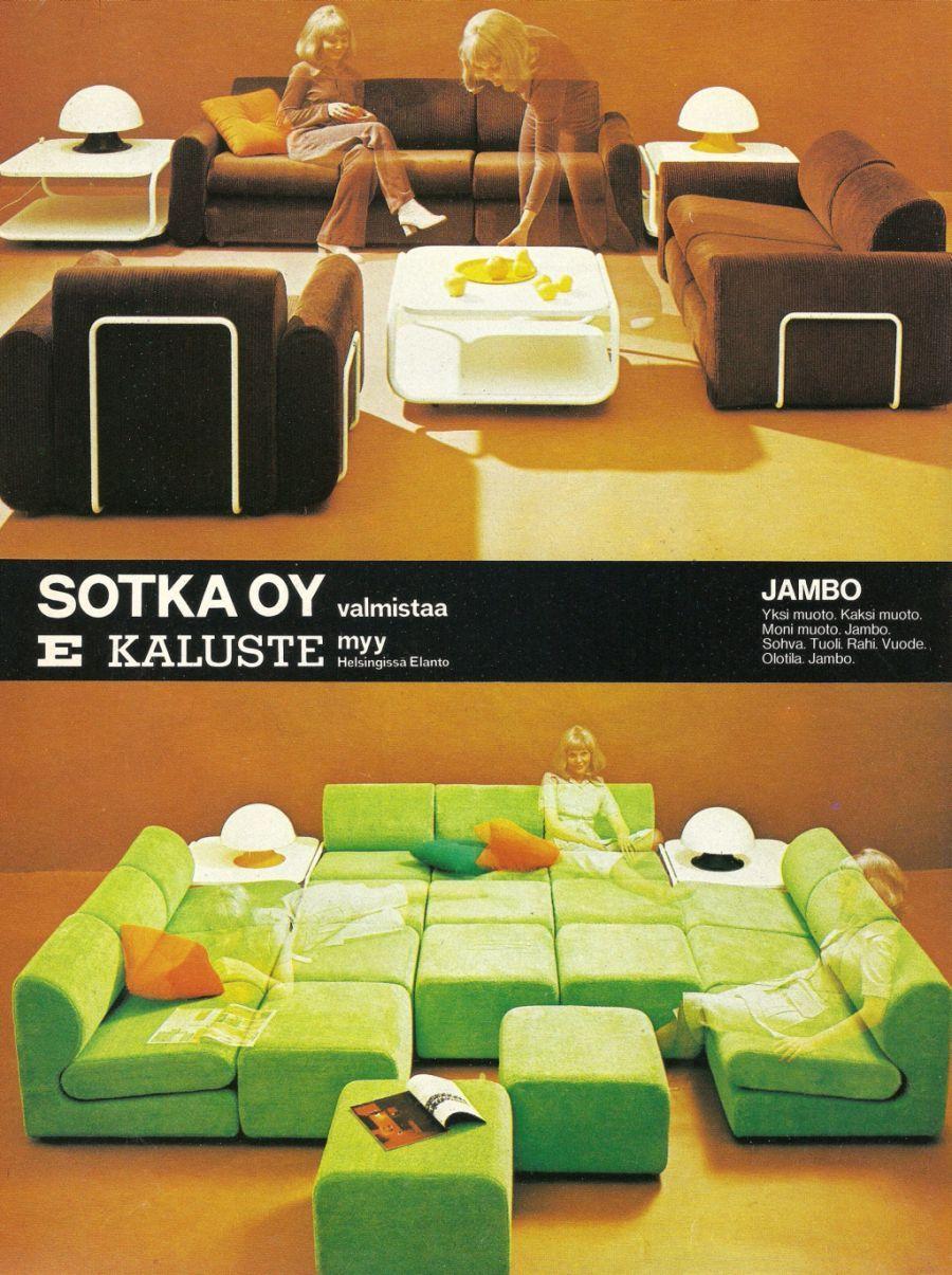 Finnish Retro Living Room Furniture Sets: Jambo By Sotka   70 Luvulta,  Päivää Part 53
