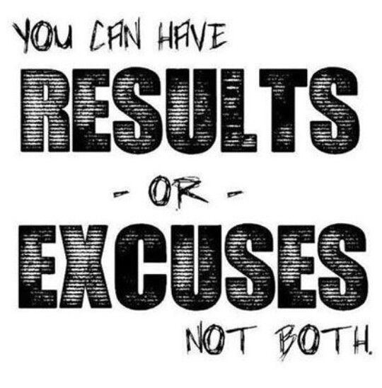 Excuses will get you nowhere, 20 to 30 minutes a day let's get up and workout!
