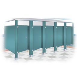 Baked Enamal Toilet Partitions Cubicles From Bradley Corp Made By Mills Company Out Of Marion Ohio Bathroom Partitions Room Wall Tiles Bathroom Themes