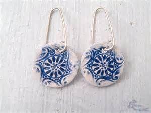 Ceramic Lace Earrings