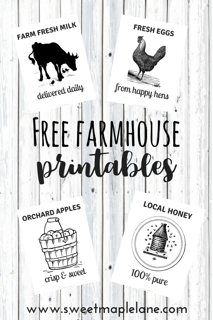 graphic about Printable Farmhouse Signs named 4 Refreshing Cost-free Farmhouse Printables Do-it-yourself Crafts Farmhouse