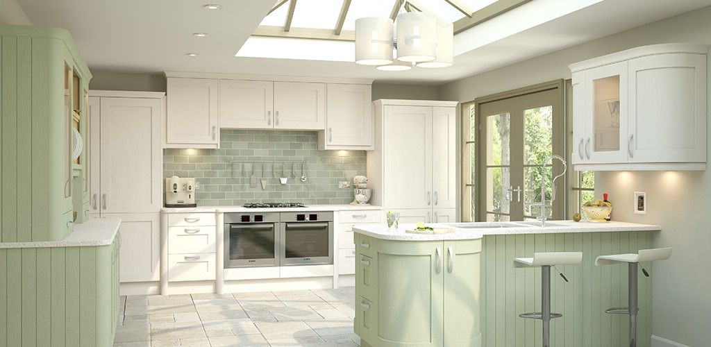sage green kitchen ideas wren living shaker timber kitchen kitchen 21605