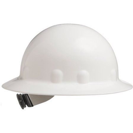 Fibre Metal By Honeywell E 1 Full Brim Hard Hat With Ratchet Suspension White Multicolor Hard Hat Metal Ratchet