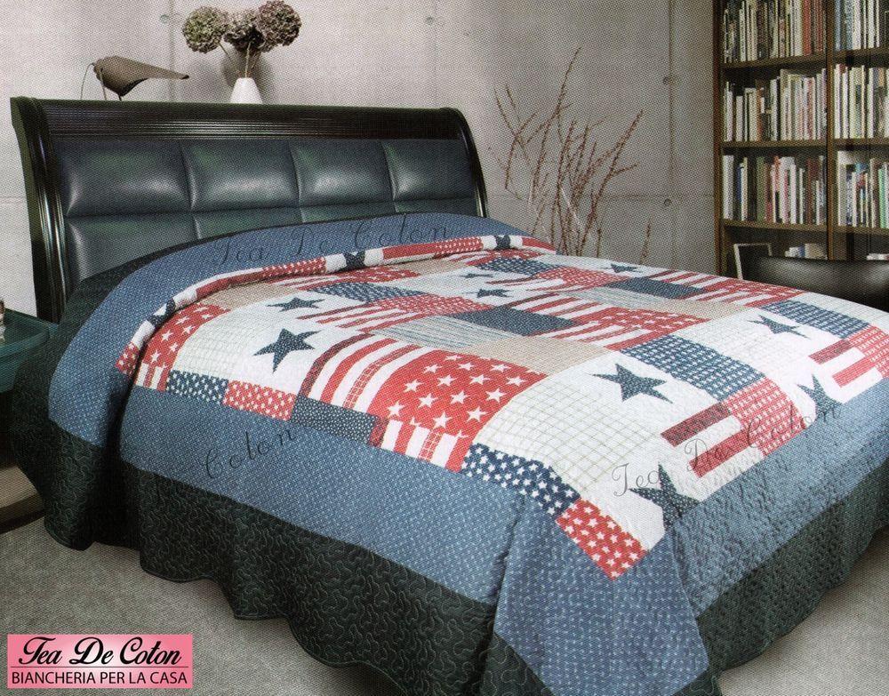 Piumone Singolo Bandiera Inglese.Trapuntino Copriletto Matrimoniale Singolo Usa Bandiera Americana