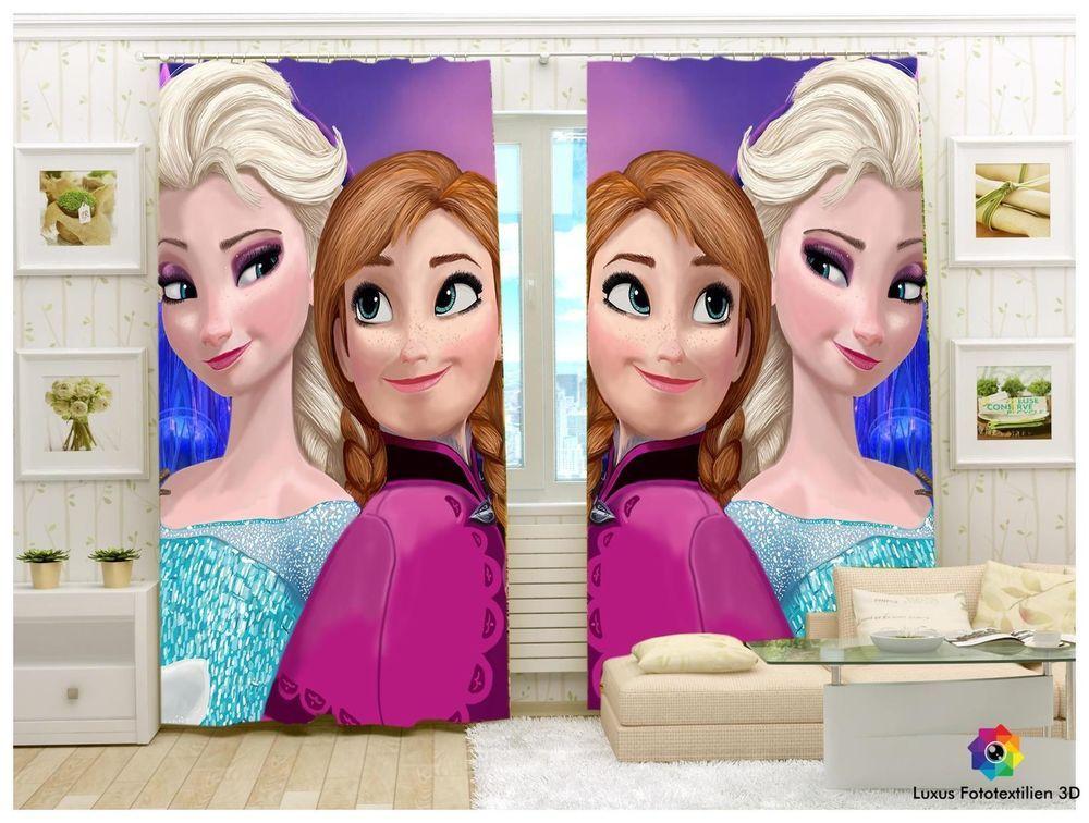 Vorhang Fotodruck fotogardine frozen eiskönigin elsa foto vorhang in luxus