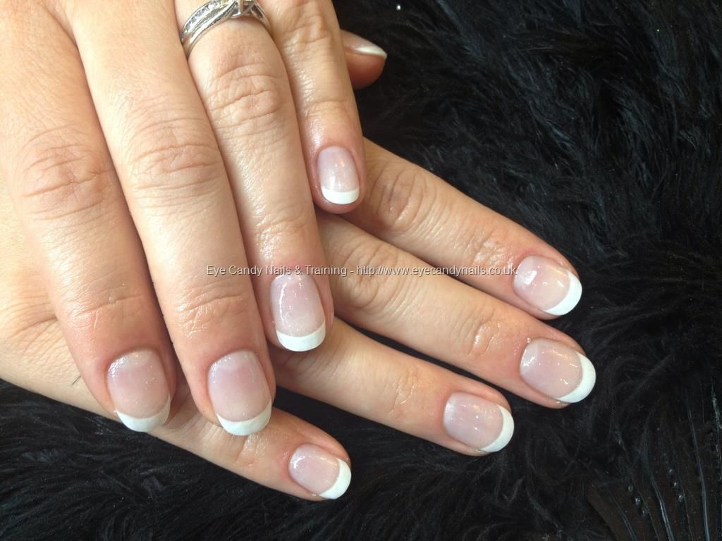 White+French+gel+natural+nail+overlays | Nails ,Piercings & Tattoos ...