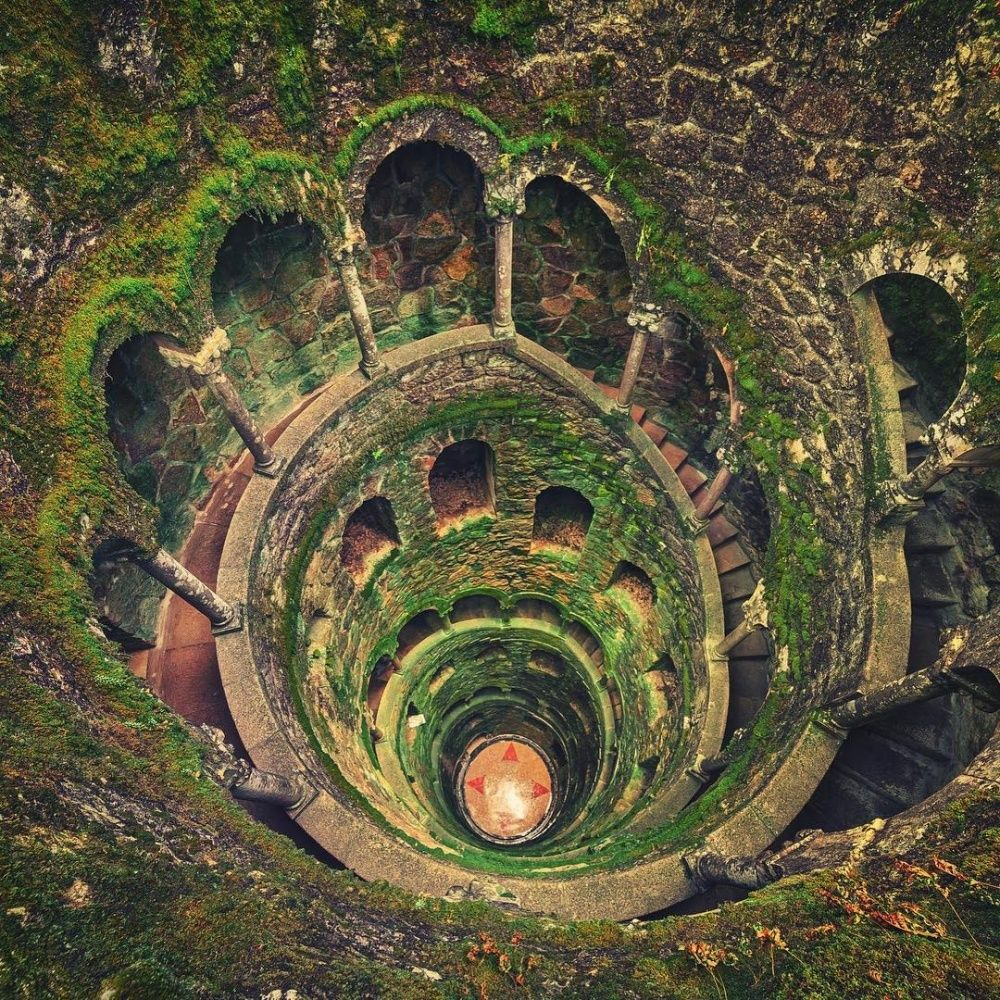 The mysterious inverted tower well in Sintra, Portugal | Abandoned ...